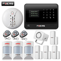 WiFi Internet GSM GPRS SMS OLED Pet Immune Home Alarm System Security Kit HD IP Camera