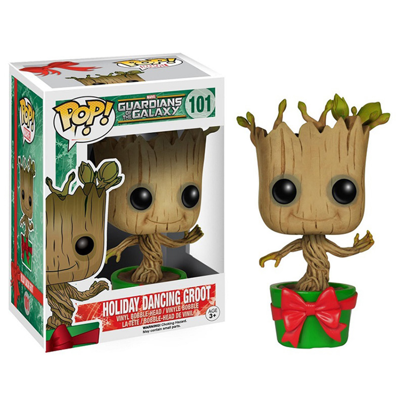10cm Mini Funko Groot Action Figure Guardians of the Galaxy Potted Version Dancing Groot Tree Model Children Collections Gift new funko pop guardians of the galaxy tree people groot