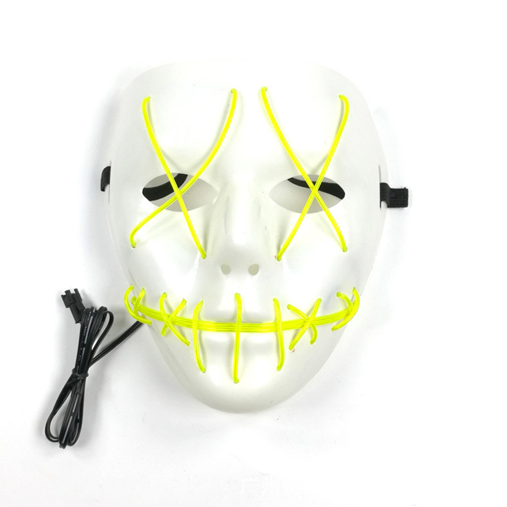 HTB1RllRarsTMeJjy1zeq6AOCVXan - 1 Piece Halloween ghost Slit mouth light up glowing LED Mask Costume PTC 259