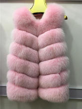 The new 2016 listed six fox fur fashion women's warm ma3 jia3 real fox fur vest bag mail
