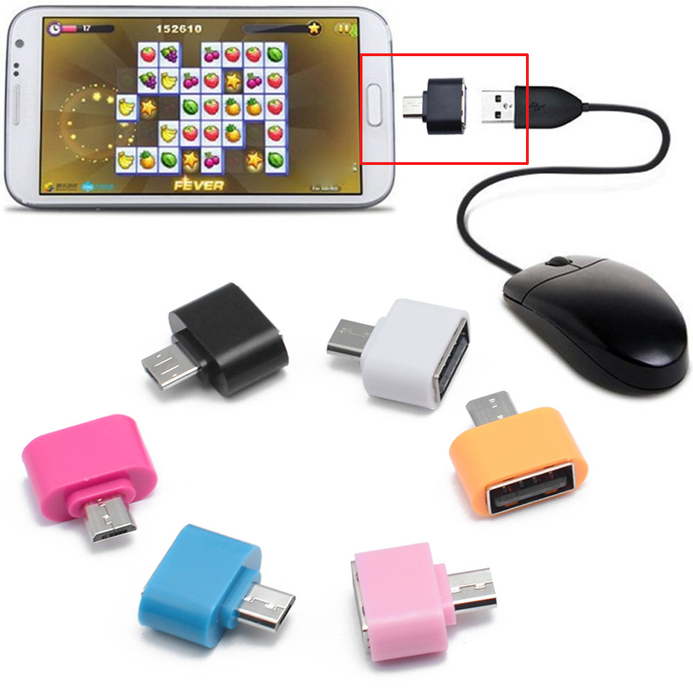 Del Micro USB To USB OTG Mini Adapter Converter For Android SmartPhone td825 dropship reliable micro usb to otg mini adapter converter for android smartphone extended jack