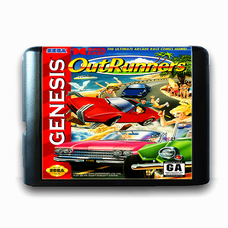 Out Runners for 16 bit Sega MD Game Card for Mega Drive for Genesis Video Game Console PAL USA JAP