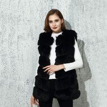CP Faux Fur Factory Fox Artifical Fur Vest Women Autumn Winter Fox Faux Fur Coat Middle Long Waistcoat Female Faux Fur Wholesale