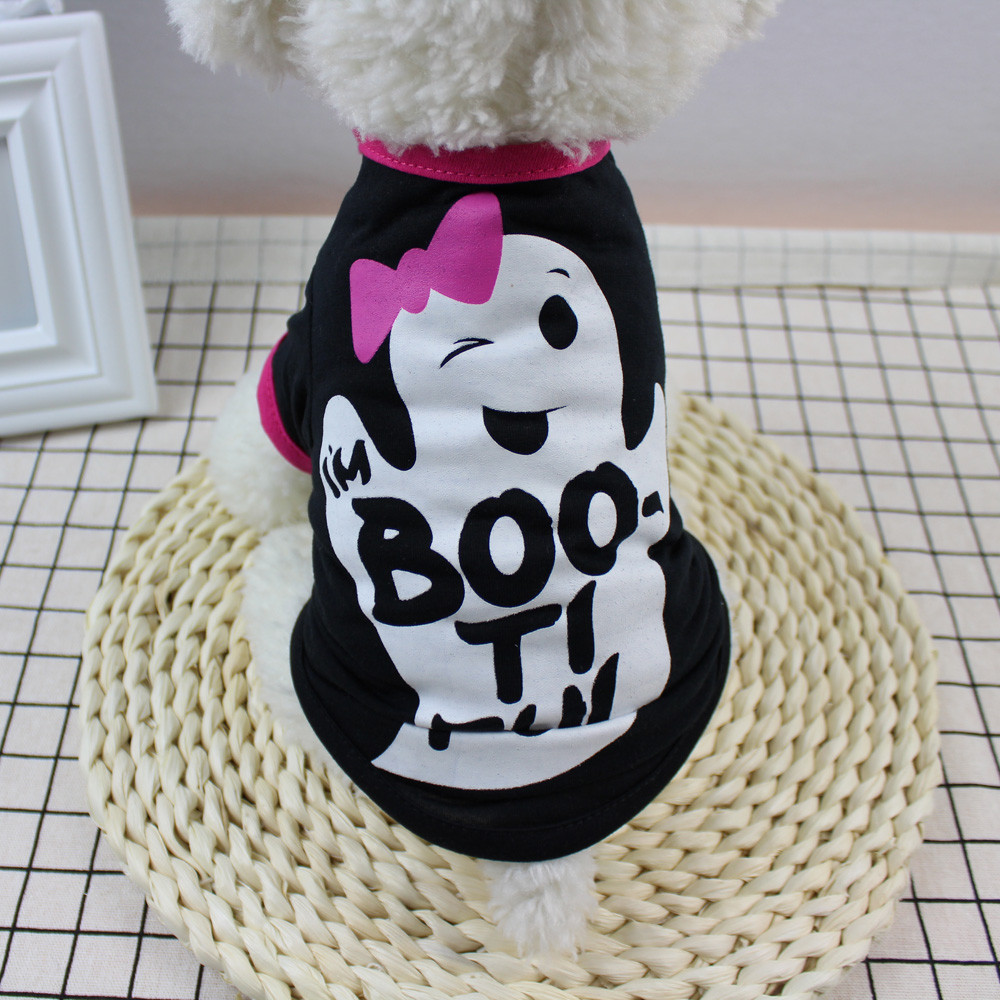 Lovely Dog Clothes For Small Dogs Pet Products Clothing Cool Halloween Cute Pet T Shirts Clothing Small Puppy Costume