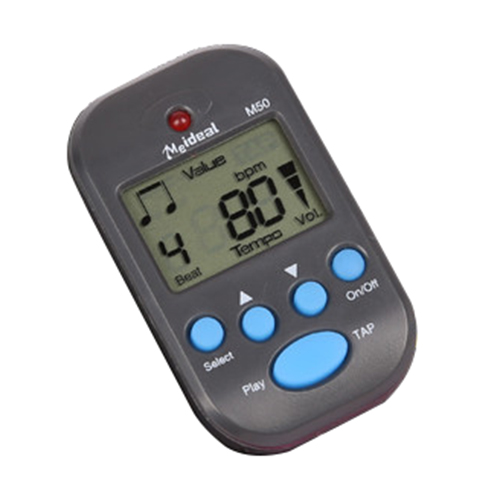 ABS mini electronic metronome with 1 button battery 11.8cm * 7.8cm * 2.5cm black