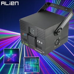 ALIEN 1W 2W DMX RGB Ilda laser animacyjny projektor skaner profesjonalne oświetlenie sceniczne DJ Disco Bar klub wesele efekt
