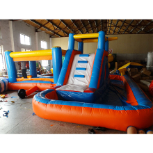 Outdoor inflatable bouncer house Park Inflatable Water Slide  with swimming pool for kids Castle