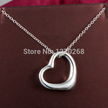 P058 cheap wholesale TOP quality silver Heart Pendant Necklace Fashion Jewelry Valentine's Day gift