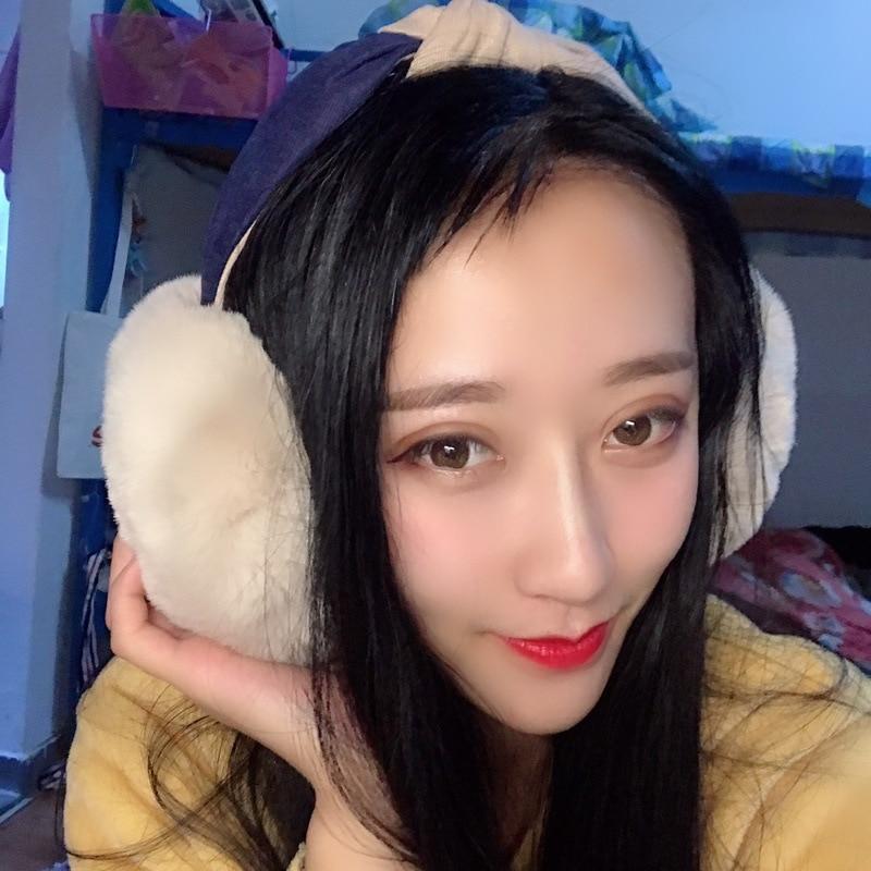 2019 Hot New Cross Hair Band Earmuffs Female Winter Warm Retro Color Matching Imitation Rabbit Fur Earmuffs Gift For Girls PS-33