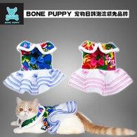 BONEPUPPY Chinese Design Festival Pet Dog Puppy Wedding Dress Clothes