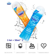 Durex Lubricants 2 Pcs Ice and Fire Water Based Lubricant An