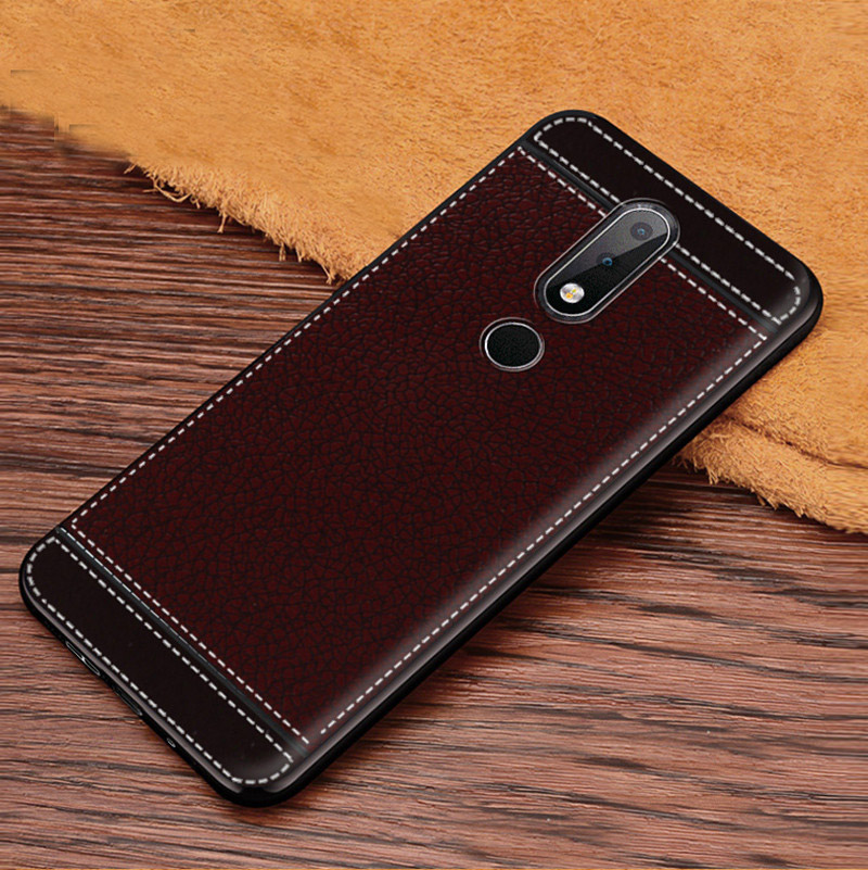 <font><b>Nokia</b></font> <font><b>7.1</b></font> Case <font><b>Nokia</b></font> <font><b>7.1</b></font> 2018 Case Cover 5.8 inch Leather Texture Soft TPU Case For <font><b>Nokia</b></font> <font><b>7.1</b></font> TA-1085 TA-1095 TA-1096 TA-1100 image