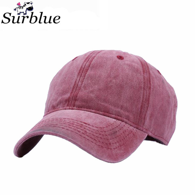 Surblue 2017 new fashion solid Denim jeans baseball cap men women snapback  caps weed distressed raiders hats pure colour 96dc9fdba3f