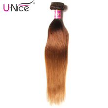 UNice Hair Company Ombre Brazilian Hair Straight Weave T1B/4