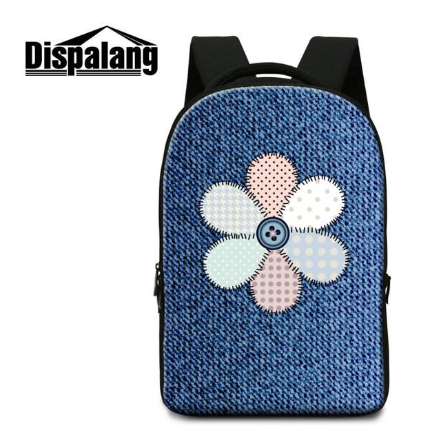 Dispalang Fashion Backpack Denim Pattern Casual Laptop Shoulder Bag Students  Computer Backpack Kids Schoolbags Leisure Book Bags 6a0282e2e1abd