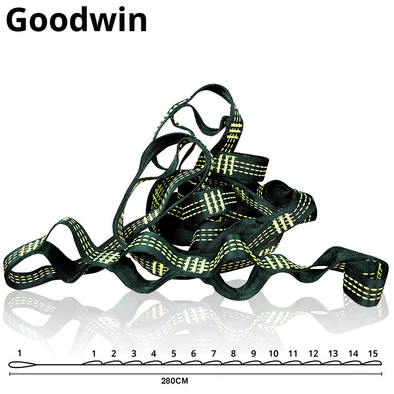 Goodwin Hammock Straps& Belts - 10 Feet Long, Extra Strong & Lightweight, 2200 LBS Breaking Strength, No Stretch PolyesterGoodwin Hammock Straps& Belts - 10 Feet Long, Extra Strong & Lightweight, 2200 LBS Breaking Strength, No Stretch Polyester