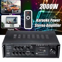 2000W Car Amplifier bluetooth LED Display Wireless Audio Amplifier Stereo Karaoke USB Sound Amplifiers for Car Home