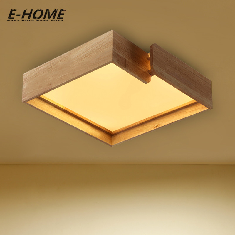 Favourite Nordic solid ceiling modern simple living room lamp Japanese wood creative bedroom study lighting luminaire