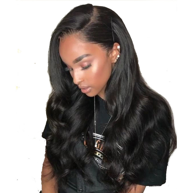 180 Percents Density 360 Lace Frontal Wig Body Wave With Baby Hair Brazilian Human Hair Wigs For Women Natural Black You May Remy Hair  by You May