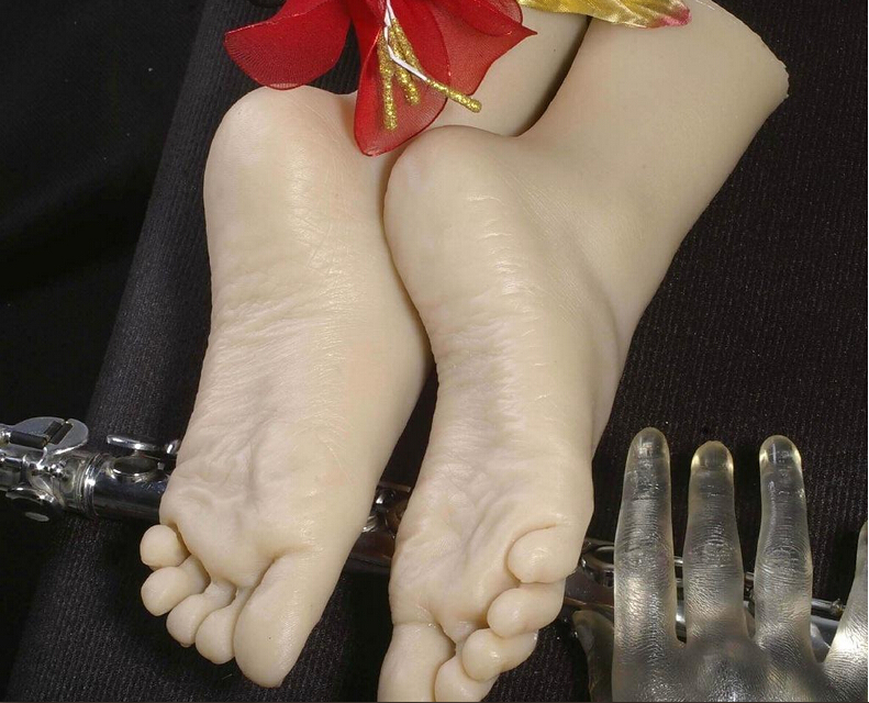 Female silicone feet bonecas font b sex b font font b doll b font realistic skeleton