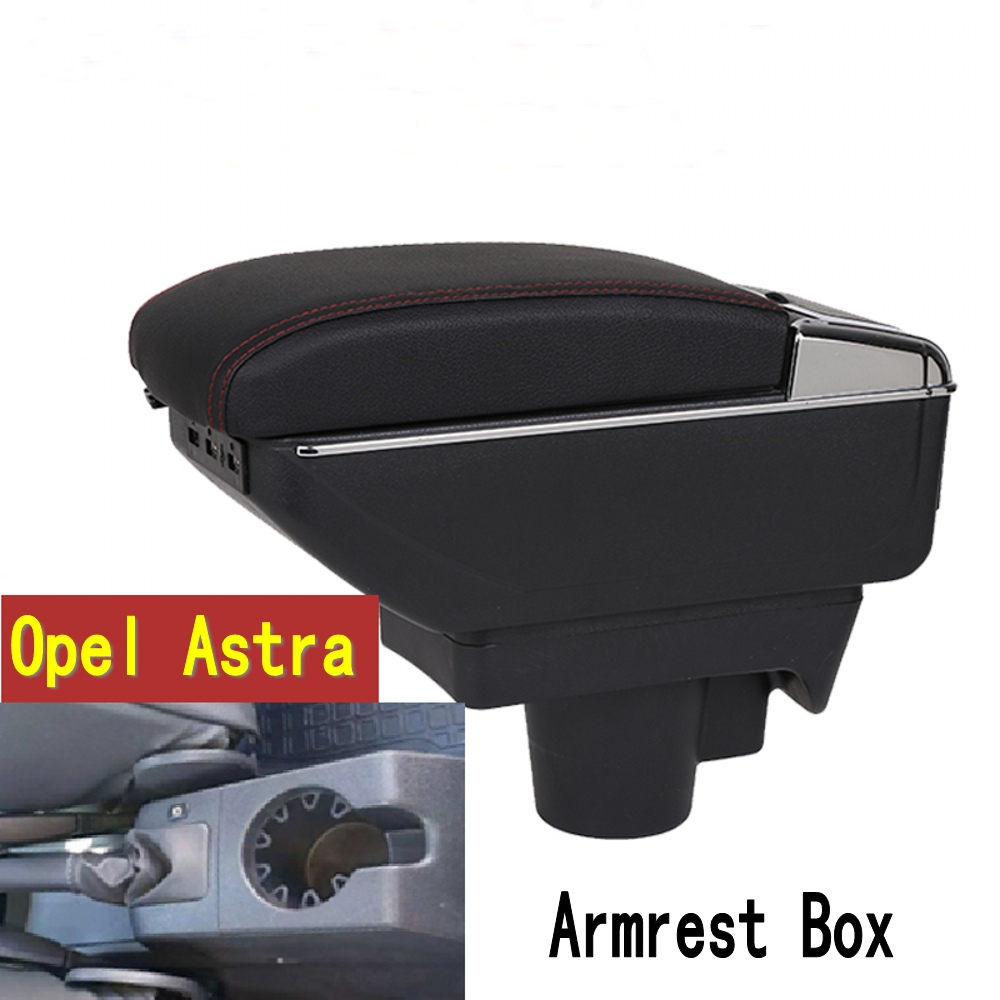 For Opel Astra Armrest box central Store content Astra armrest box with cup holder ashtray with USB interface 2011