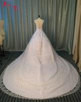 Jark Tozr Custom Made Gorgeous China Bridal Gowns With Chapel Train 2017 Brautkleid Shiny Silver Beading