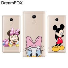 DREAMFOX M086 Cute Mickey Minnie Mouse Soft TPU Silicone Case Cover For Xiaomi Redmi Note 3 4 4X 5 5A 6 7 Pro Global