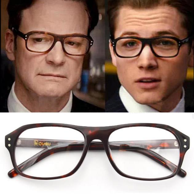 fba817eb59e Movie Kingsman The Golden Circle Eggsy Harry Hart Cosplay Eyewear Glasses  Eyeglasses Sunglasses