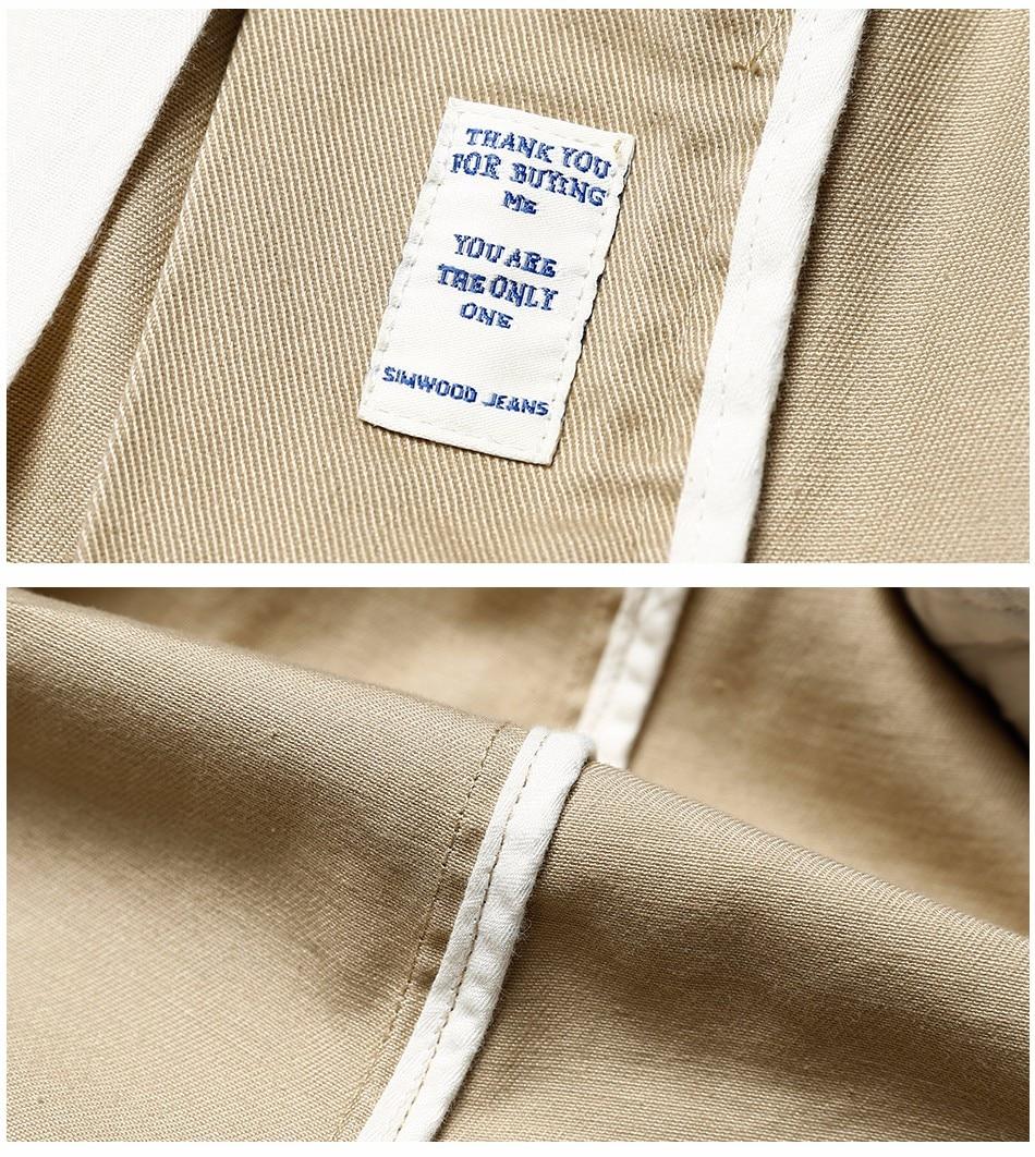 HTB1RloZXdzvK1RkSnfoq6zMwVXak Simwood Brand Autumn Winter New Fashion 2019 Slim Straight Men Casual Pants 100% Pure Cotton Man Trousers Plus Size KX6033