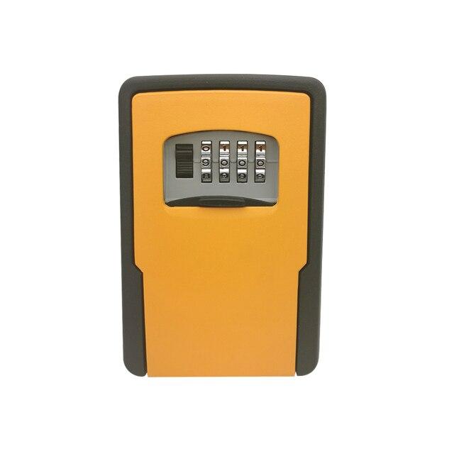מפתח אחסון מנעול תיבת קיר רכוב מפתח מנעול תיבה עם 4 ספרות שילוב עבור בית מפתחות רכב מפתחות עבור בית משרד