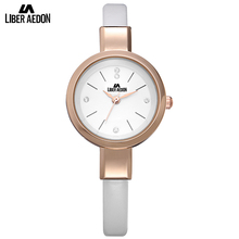 Liber Aedon Gold Ultra Slim Woman Watch with Rhinestones Quartz Movement Elegant Celebrity Women's Watches
