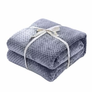 Image 4 - CAMMITEVER Luxury Blankets Mesh Flannel Blanket Thickened Coral Fleece Soft Luxurious Solid Blanket for Sofa/Bed Soft Throw