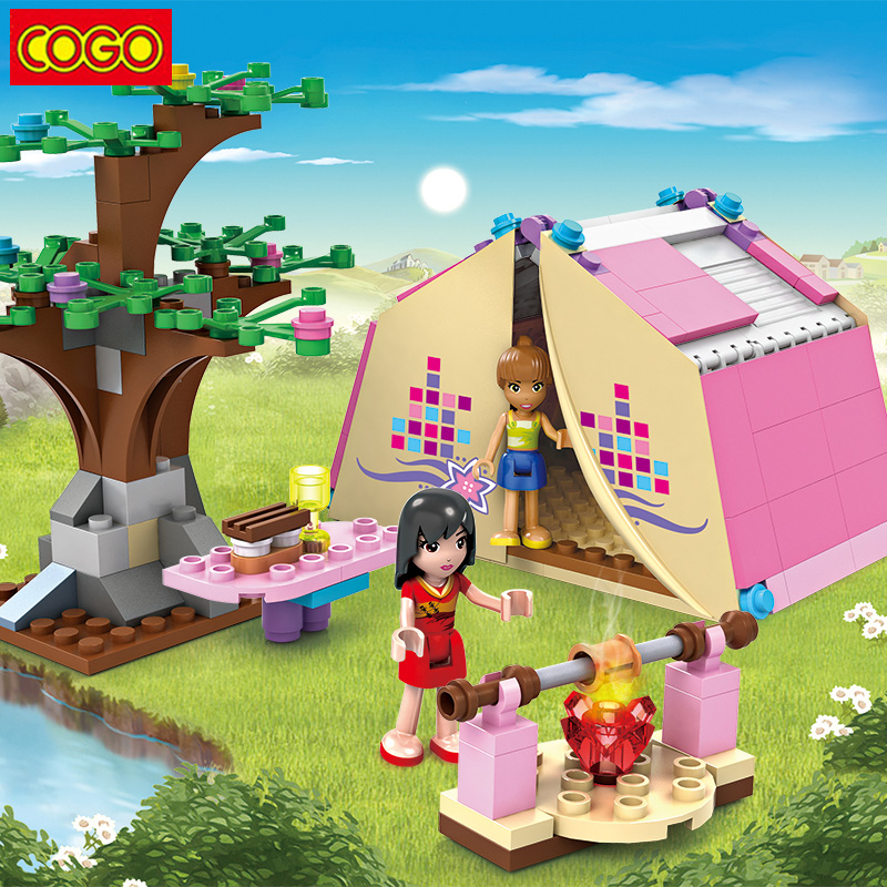 COGO Blocks Dream Girl Friends Series Blocks Plastic Educational Building Blocks Assembly Toys DIY Bricks Toys For Children Gift 472pcs set banbao princess series castle building blocks girl friends favorite scene simulation educational assemble toys