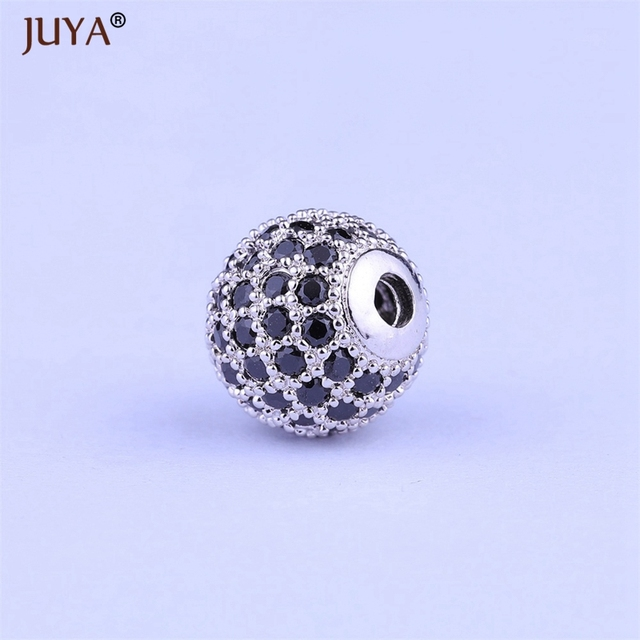 DIY Black CZ Spacer Beads 10mm Copper Crystal CZ Round Beads for Jewelry  Making Earrings Necklaces f5951517cbeb