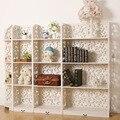 4 pçs/set Branco 4 Camadas Sapateiras Escultura Em Madeira Book Shelf Organizador Do Armário De Armazenamento 153*23*120 CM