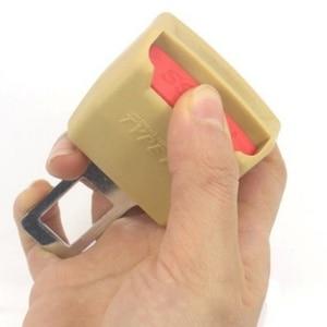 Image 4 - 2 farbe 1pc Auto Sitz Gürtel Clip Extender Sicherheit Seatbelt Lock Schnalle Stecker Dicken Einsatz Buchse Schwarz/Beige