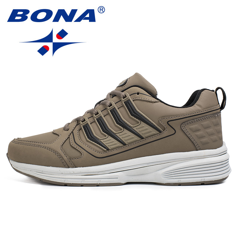 BONA/Новое поступление, стильные мужские кроссовки, спортивная обувь на шнуровке, Прогулочные кроссовки для бега