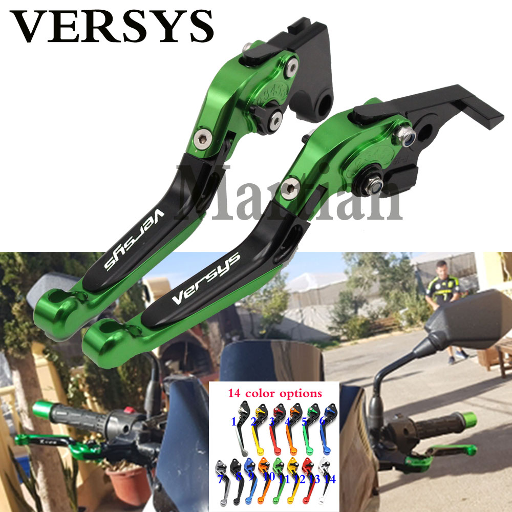 For Kawasaki VERSYS (650cc) 2009-2014 2010 2011 2012 2013 Laser Logo(Versys)  New CNC Adjustable Motorcycle Brake Clutch Levers