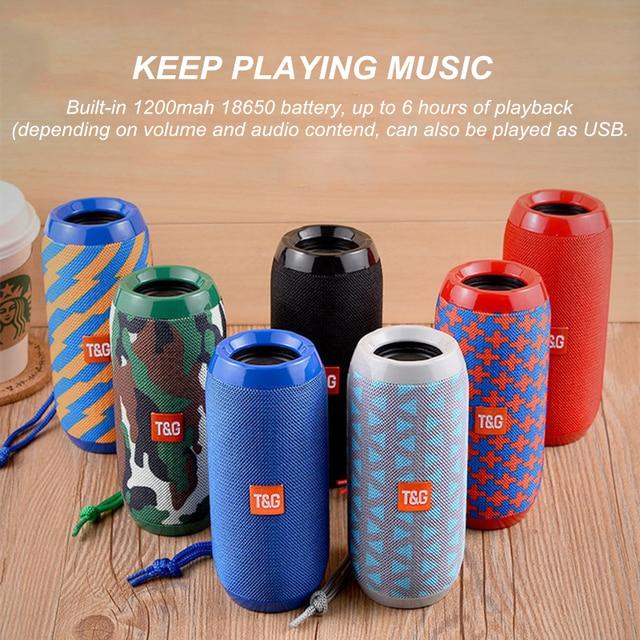 HANTOPER TG117 Bluetooth Speaker mini soundbar Waterproof Portable Wireless Column Loudspeaker with TF FM USB Radio for Phone 1