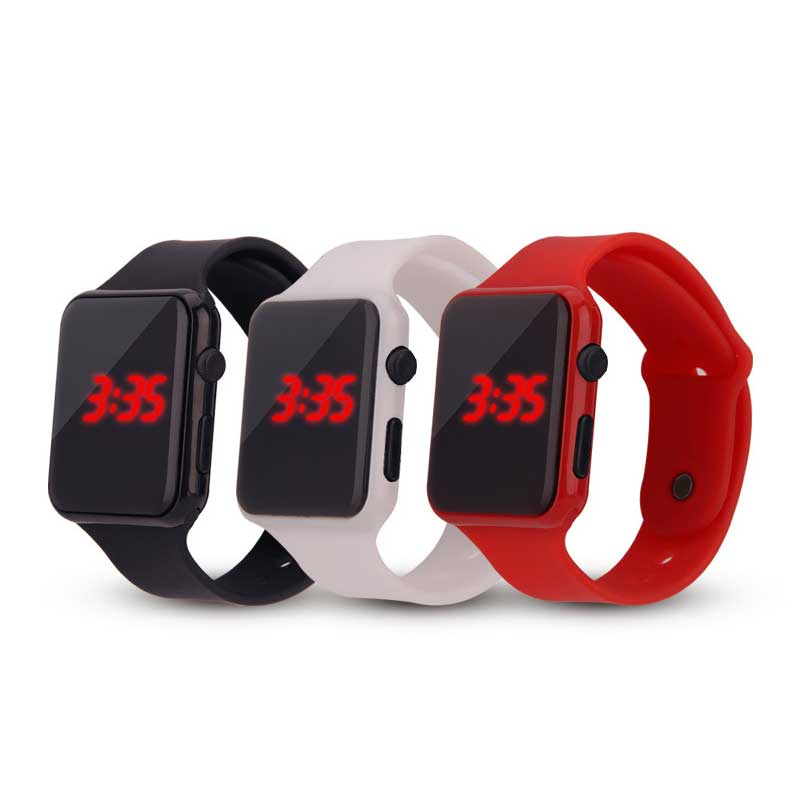 Children fashion font b watch b font Red led Boy girl electricity supplier electronic Student font