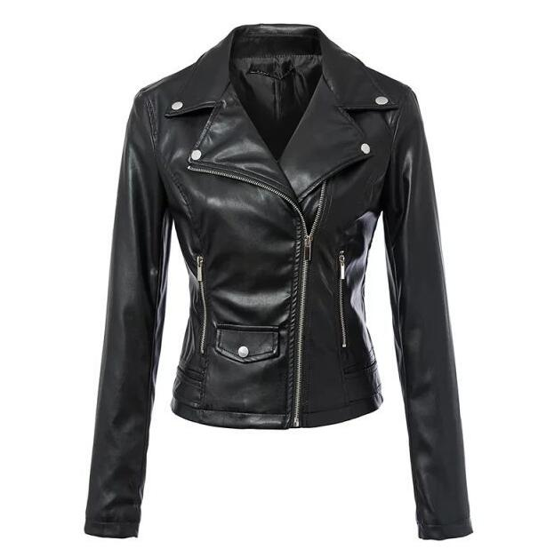 Women Autunm Winter Wine Red Faux   Leather   Jackets Lady Bomber Motorcycle Cool Outerwear Coat Hot Sale