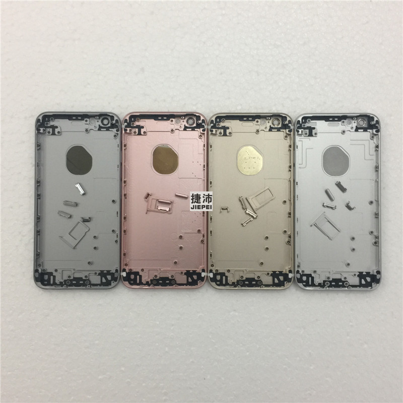 JIEPEI Case iPhone 6s Housing-Frame Door-Chassis Rear-Cover Back New Metal 10pcs