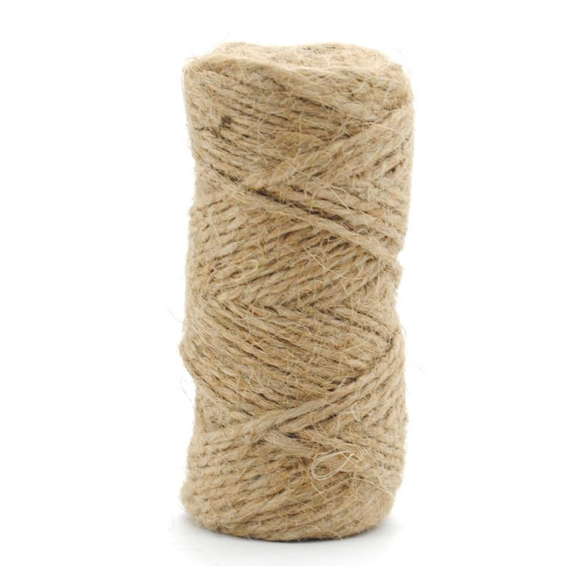 jute twine 33m natural sisal rope 2mm rustic tags wrap wedding party decoration craft burlap string - Sisal Rope