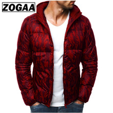 ZOGAA Winter Men Hooded Parkas Guys Boys Cotton Long Sleeve Thick Jackets Male Warm Padded Slim Fit Outerwear Coats 2019