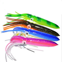 10pcs 15g 18cm Octopus Soft Lure Lifelike Fishing Multiple Color Selection Silicone Artificial For Saltwater Bait