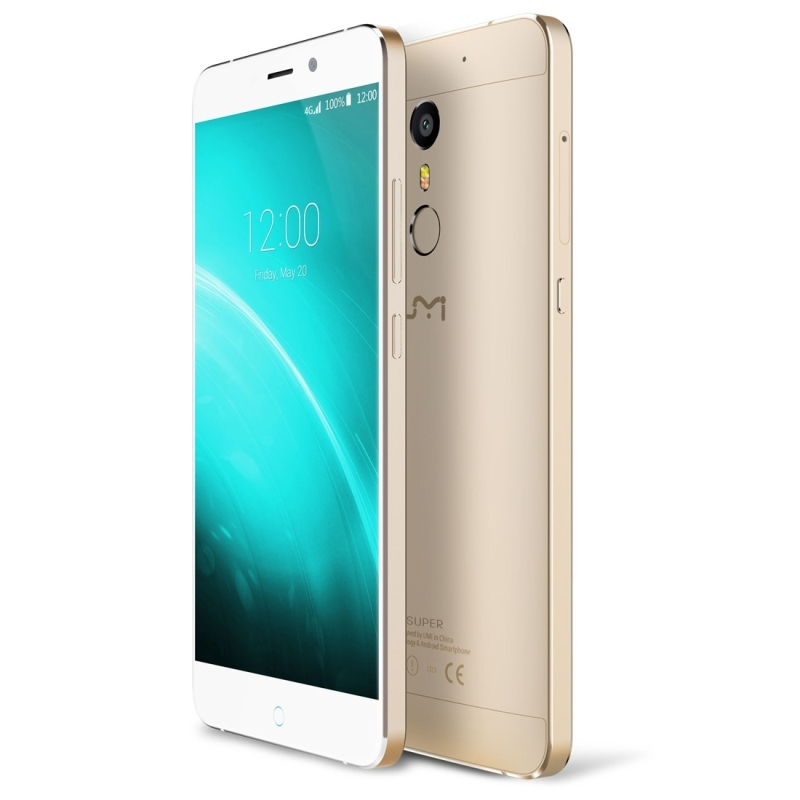 UMI Super 2.5D LTPS 5.5 inch Android 6.0 P10 MTK6755 Octa Core 4G RAM 32G ROM 4000Mah Quick Charge 13.0MP Touch ID Type-C Smartphone