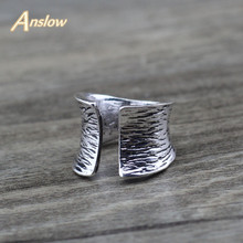 Anslow Hot Brand Wholesale Natural Punk Rock Fashion Jewelry Mens Male Trendy Couple Rings For Party Wedding Birthday LOW0031AR
