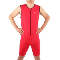Red Professional Running Swimming Cycling Sportswear Lycra Compression Ironman Triathlon Suits