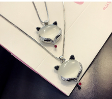 women's long chain fox pendant necklace women fashion jewelry chain female sweater chain 2016 new jewelry DG1148