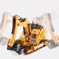 RC TOYS Alloy Excavator Truck Die Cast Metal Professional Engineering Construction Vehicle Model Kids Toys Gift
